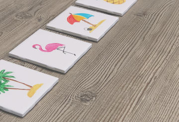 summer themed coasters